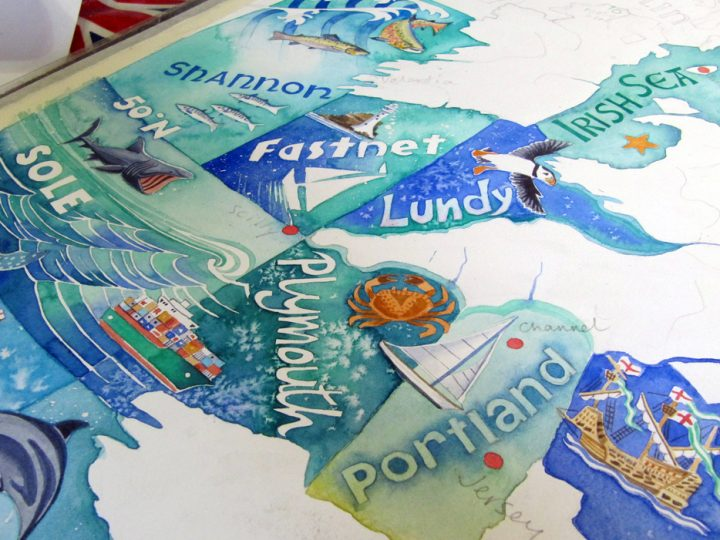 How I made my painting of the shipping forecast