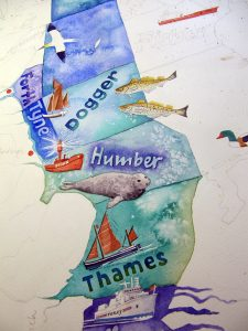 Shipping forecast painting in progress