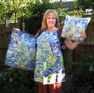 Photo of Jane with Shipping Forecast products