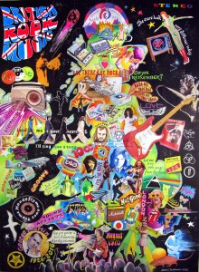 A painting of British Rock Music
