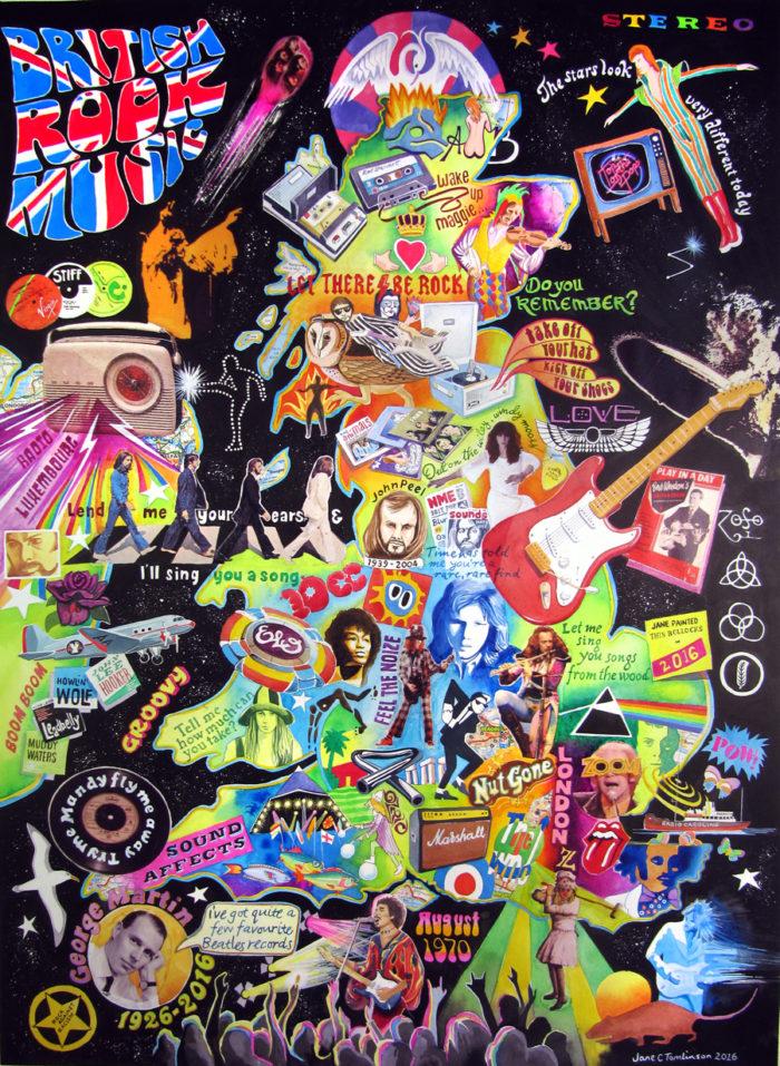 British Rock Music painting