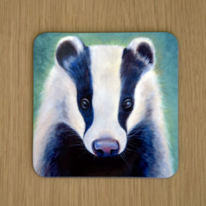 Brock the badger coaster