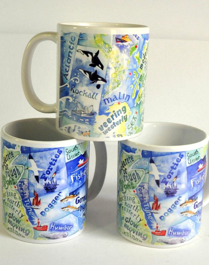 Shipping forecast mug