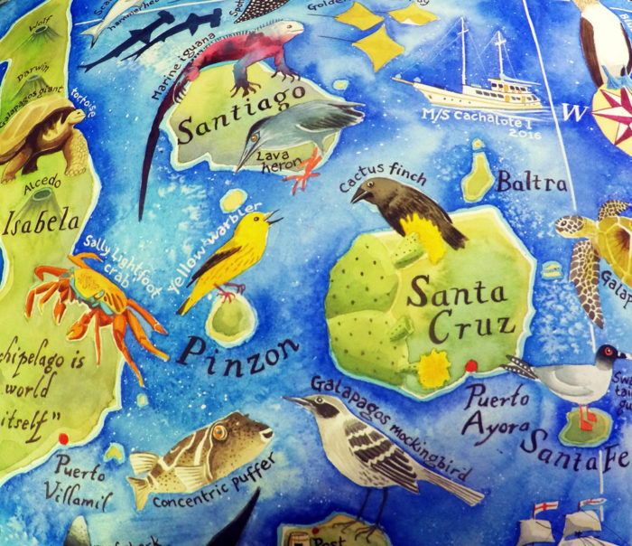 Galapagos map Santa Cruz