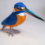 Paper mache Kingfisher