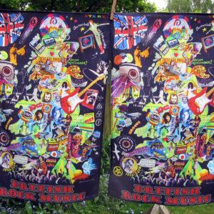 Rock music tea towels