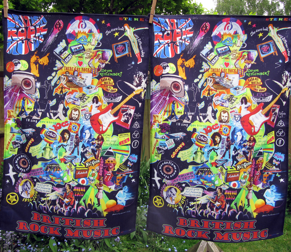 Rock music tea towels