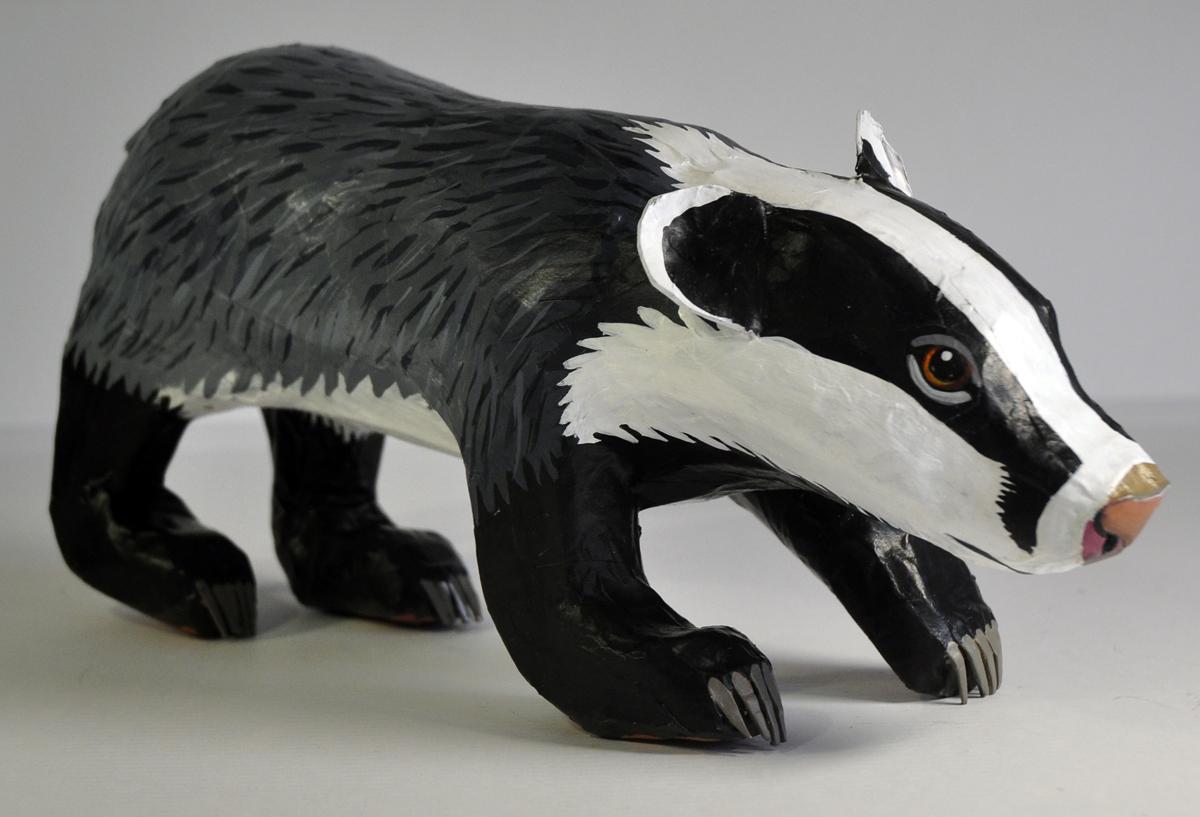 paper mache badger