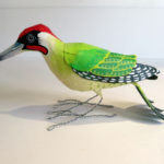 green woodpecker paper mache