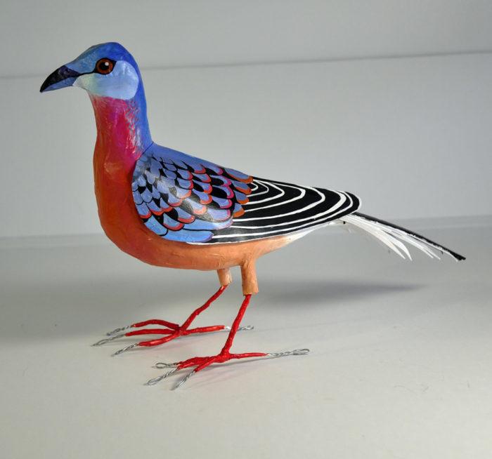 paper mache passenger pigeon