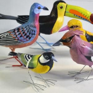 paper mache birds