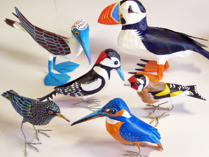 How to make paper mache birds