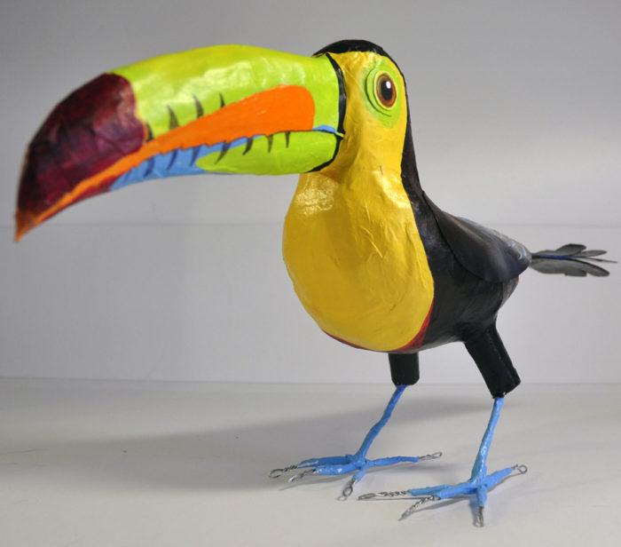 paper mache toucan