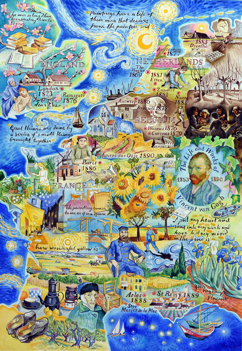 47 Van Gogh Paintings In One