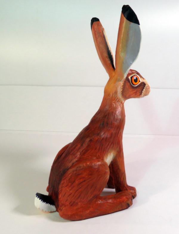 Paper mache brown hare