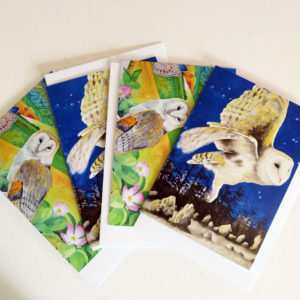Barn owl greetings cards