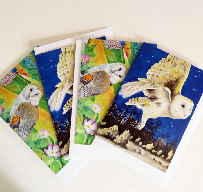 Barn owl greetings cards