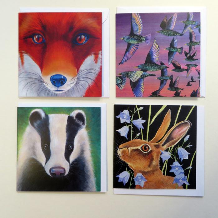 wildlife favourites greetings cards