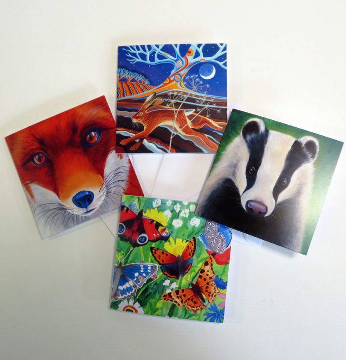 Wildlife greetings cards