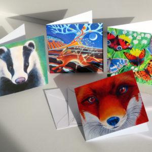Wildlife greetings cards