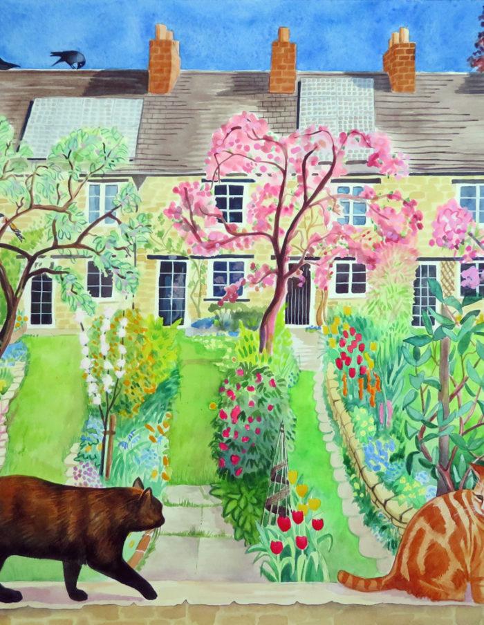 Spring garden patrol, Eynsham