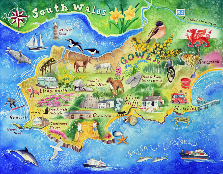 Gower map