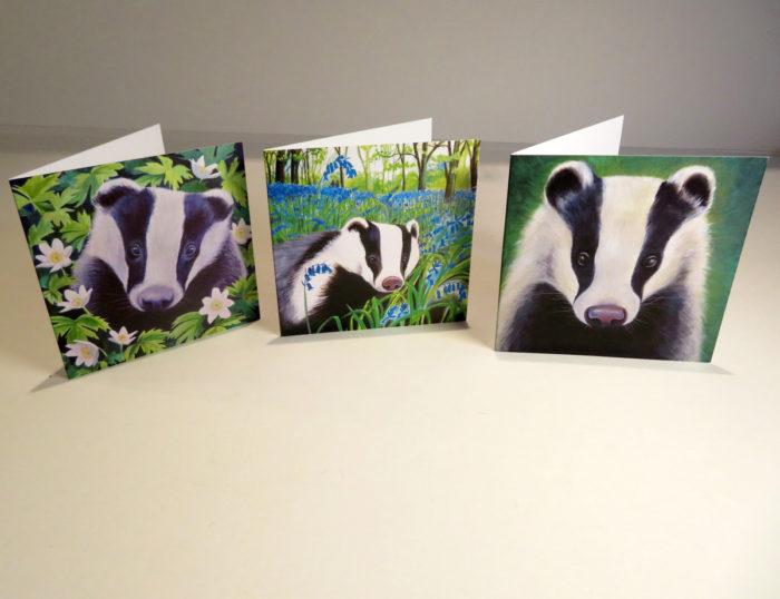 Badgers greetings cards