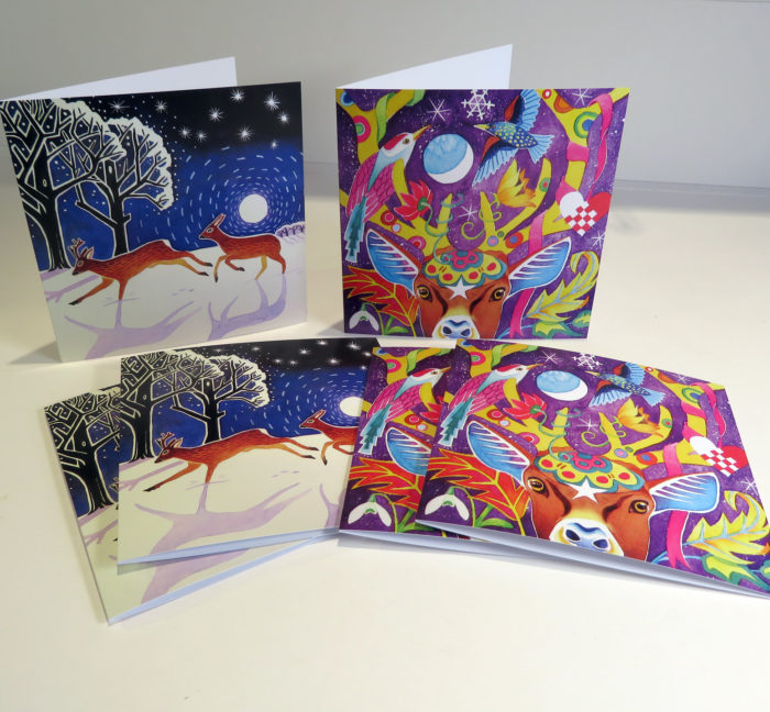 Deer Secular Greetings Cards