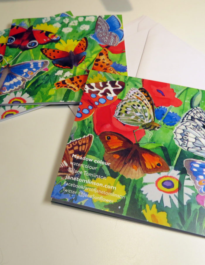 butterflies greetings cards