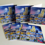 midwinter village greetings cards