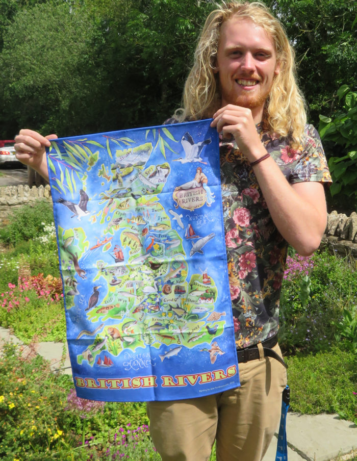 British Rivers tea towel