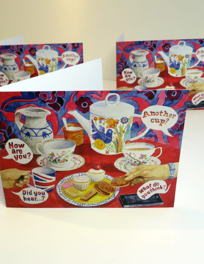 tea and biscuits greetings cards