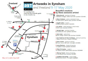 Artweeks Eynsham and Freeland map