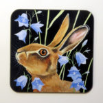 Hare and harebells coaster