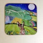 White Horse hare coaster
