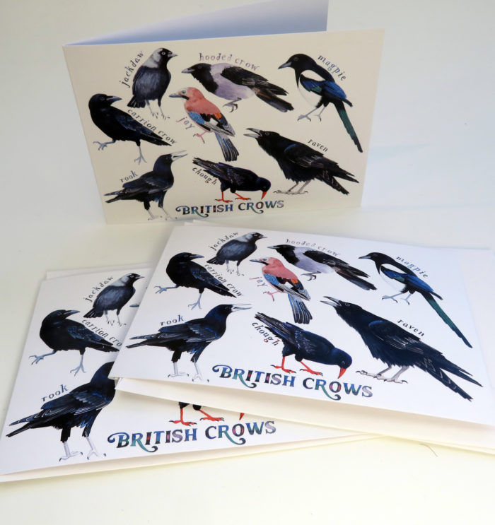 British crows greetings cards