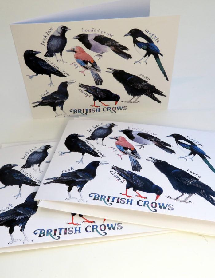 British crows greetings cards