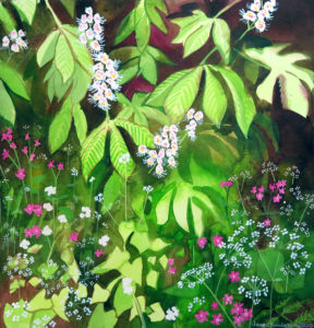 Horse chestnut and red campion