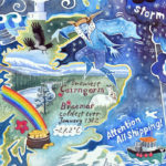 Weather Map painting Scotland