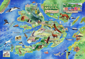 Map of Mull by Jane Tomlinson