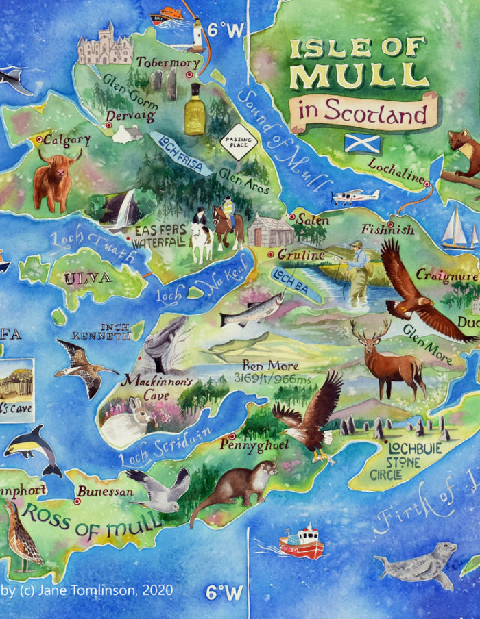 Map of Mull - detail from central section