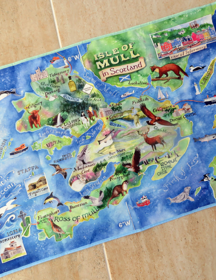 Isle of Mull tea towel