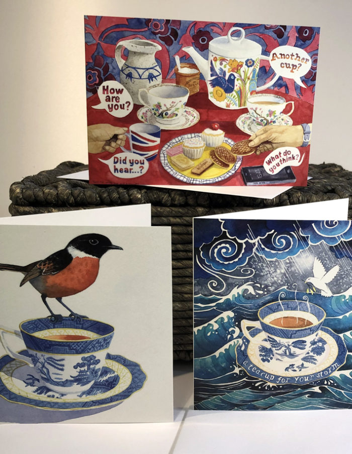 tea time greetings cards