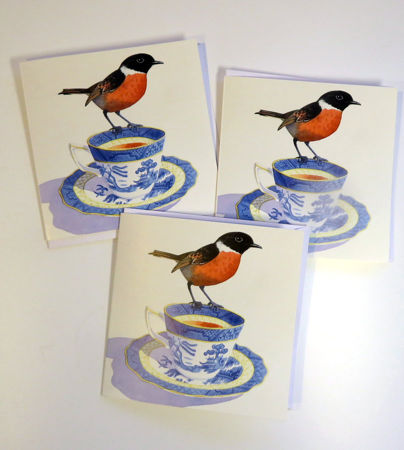 A cup of tea and a chat greetings cards