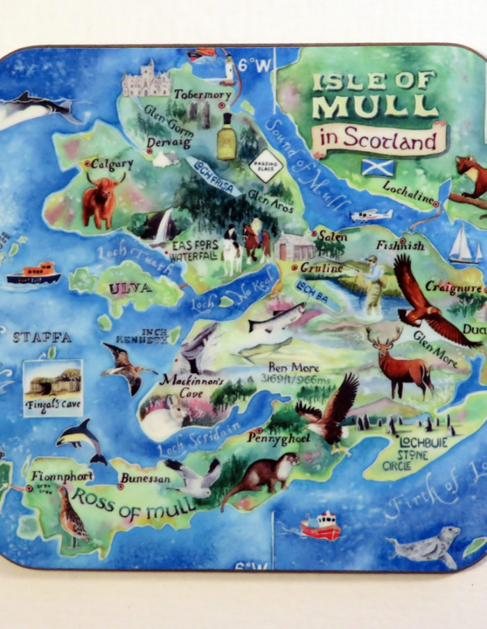 Map of Mull coaster