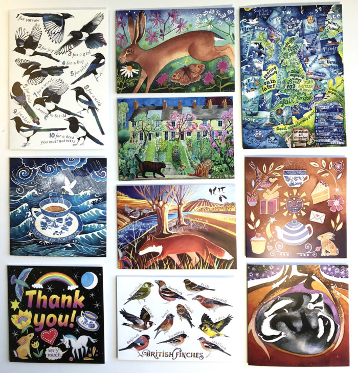 A pack of greetings cards for all seasons