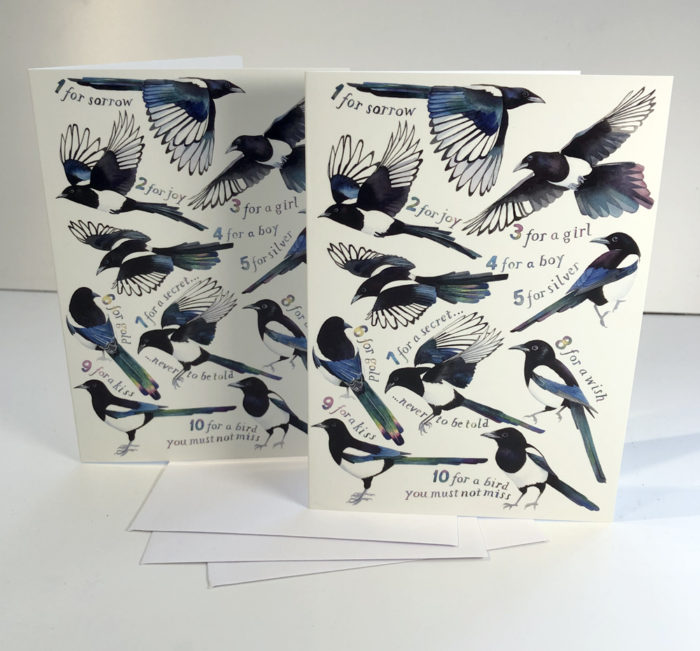 Magpie greetings cards