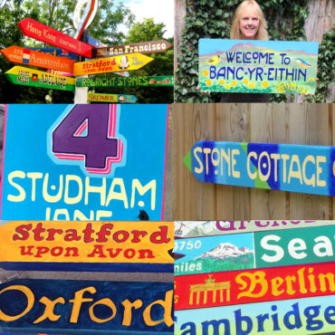 Hand painted signs for your house and garden