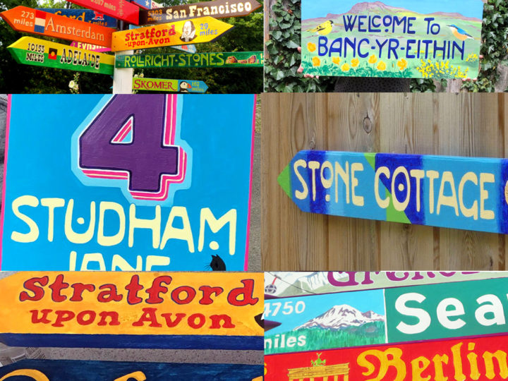 Hand-painted signs for your house and garden